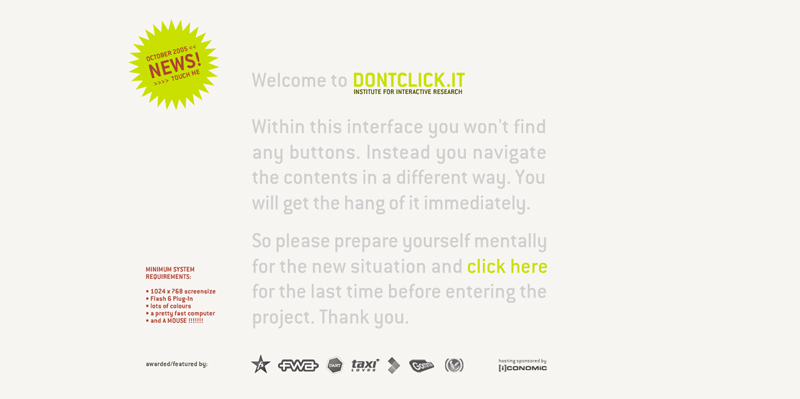 dontclick.it opening page