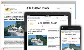Boston Globe redesign