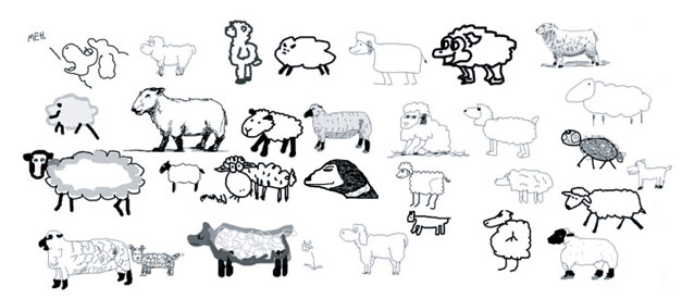 Sheep Drawings